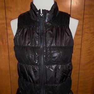 Sequined puffer vest sz L 10-12